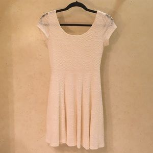 White lacey dress with rounded scoop back